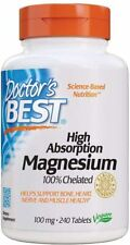 240 Tablets 100 mg 100% Chelated High Absorption Magnesium Glycinate Lysinate