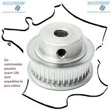 Poulie aluminium GT2 6mm 36 dents axe 5mm 3d print,cnc belt timing pulley
