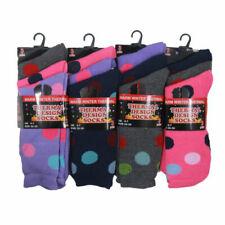 3 Pairs Women's Girls Cosy Warm Winter Thermal Chunky Daily Wear Socks UK 4-7