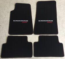 Autoteppich Fußmatten für Chevrolet Camaro SS Cabrio weiss rot rot Nubuk -2015