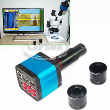 14MP 1080P Industry HDMI USB Microscope Camera w/ C-Mount Eyepiece Lens Adapter