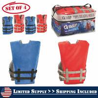 "Vintage Extrasport H-4 Red Life Jacket Vest III PFD-Adult Small-36/"" x 38/""-NEW"