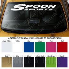 "SPOON SPORTS Windshield Banner Vinyl Long Lasting Premium Decal Sticker 40"""