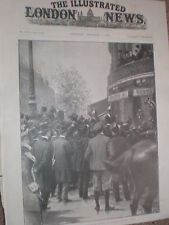 Ex President Kruger South Africa Hotel Scribe Paris France 1900 old print