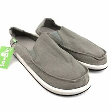 Sanuk Vagabonded Mens Casual Shoes Size 10 Light Gray Slip On Loafers NWT