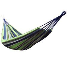 Ocio al aire libre Hamacas dobles de algodón para 2 personas 450lbs con mochila