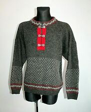Mens NORWOOL NORWAY Nordic Pure WOOL Cardigan Jumper Fair isle Knit Blue Size M