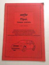 Libretto d'istruzioni Fiat Tipo Turbo Diesel 1992