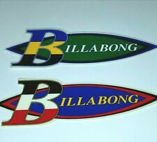 Billabong 2 Stickers Vintage Surf Surfer Vtg Decal Vinyl Surfboard Bodyboard Art