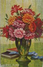 """"""" ölgemälde-imitations-künstler- degi """" Series 1306, Carnations, W.Hoy (4036)"""
