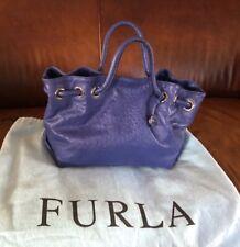 Furla Purple Leather Handbag with Dust Cover
