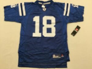 M80 New REEBOK Indianapolis Colts Peyton Manning Blue Jersey YOUTH Sizes