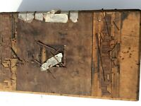 Antique Vintage Wooden Writing Slope Box For Restoration includes inside pieces
