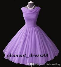 1950's Vintage Short Prom Dresses Tea-length Bridesmaid Ball Gowns Evening Dress