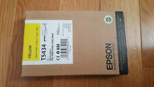 GENUINE EPSON T5434 YELLOW INK STYLUS PRO 4000 4400 7600 9600 ULTRACHROME NEW