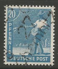 "Estampillas-Alemania-zona soviética. 1948. 15pf Marrón. ""Chemnitz Michel: 171 V geprüft""."