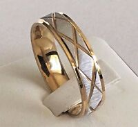 6mm Stainless Steel Mens & Womens Wedding Band - New Silver Gold Comfort Ring