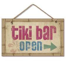 Tiki Bar Open Wood Sign 41-805