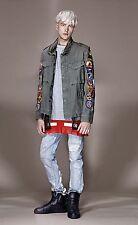 OFF-WHITE C/O VIRGIL ABLOH White Appliques Paint Splattered Fishnet Ripped Jeans