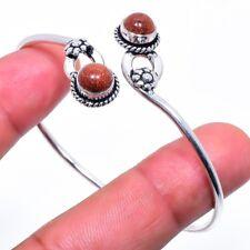 Red Goldstone Gemstone Handmade Fashion Jewelry Cuff Bracelet Adst. SC-205