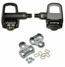 New LOOK Keo Classic 2 Black Grey Road Bike Pedals w Grey Cleats PAIR 139g each