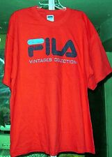 FILA ORIGINAL VINTAGES COLLECTION MENS RED T-SHIRTS WITH SLEEVES NEW  XL