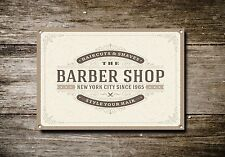Barber Shop Sign, Metal Sign, Barber Shop Signs, Vintage Style, Barber Shop, 747