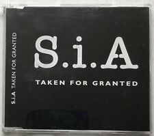 Taken For Granted by S.i.A (2000, CD single, 3 tracks) Very Good condition.