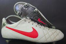 Nike tiempo legend IV elite sg talla 42,5 * UK 8 blanco K-cuero zapatillas Carbon