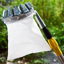 Handheld Metal Fruit Picker Tree Grab Basket Bags Cloth Garden Picking Tools