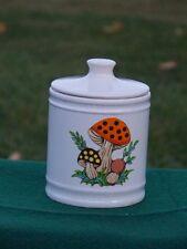 Vintage Merry Mushroom Canister Ceramic 1982 Sears Japan White Lid