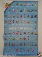 "SDCC San Diego Comic Con 2010 Disney Toy Story 3 2"" figure Checklist poster RARE"