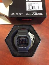 New Casio DW5600HR-1A G-Shock Classic 2-Tone Layer Black/Red Digital Men's Watch