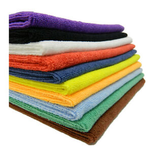 Pack of 1x 3x 12x Premium Microfibre Face Towels Cloth Flannels Sports Golf Gym