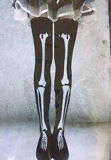 Over the Knee Thigh High Stockings Socks Halloween / Cosplay ~ Lady Skeleton