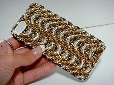 Gold Clear Made with Swarovski Crystal Bling Rhinestones Case Cover iPhone 5/5S