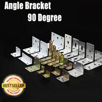 Corner Braces Angle Brackets L shape Zinc Plated Brace Bracket New