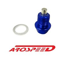 AROSPEED 20X1.5MM RACING MAGNETIC OIL DRAIN PLUG BOLT W/ CRUSH WASHER BLUE