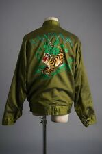 Vtg 70'S Race Road Runner Jacket Back Tiger Embroidered