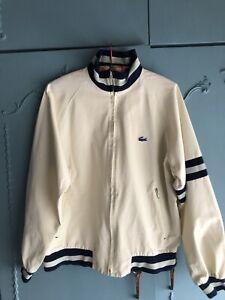 Lacoste Vintage Bomber Jacket Cream L