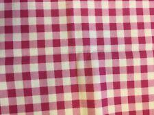 Large Pink Gingham by Indigo, 100% Crafting Cotton Fabric, 1/2 Metre