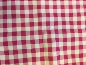 Half Metre Bright Hot Pink Country Gingham Check 100% Craft Cotton Mask Fabric