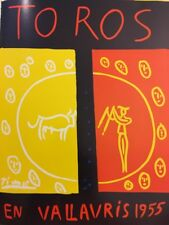 Pablo Picasso Poster,Tipped In, Offs.Lithograph,1971 Nr14, Vallauris 1955 Toros