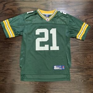 GREEN BAY PACKERS #21 Charles Woodson NFL FOOTBALL JERSEY YOUTH Sz Large Reebok