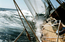 Incorniciato stampa-Vela Barca a vela in alto mare (PICTURE POSTER OCEAN NAVE PIRATA)