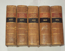 RACING CALENDAR 5 Vols from 1839 - 1841. Horse Racing / Racing Colours / Races