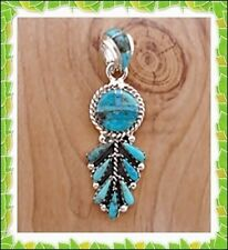 MAGNIFICIENT CUTE  PENDANT IN TURQUOISE  IN .925  STERLING SILVER