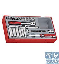 "Teng Tools 35pc 1/4"" Drive Metric Socket Set TT1435"