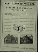 Wentworth Estate Virginia Water Land Sale Details 1959 1 Page Advert