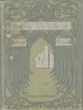 SNOW WHITE-LAURA RICHARDS-1ST/1ST-1900-DANA ESTES & CO-PRE-DISNEY-RARE BOOK!